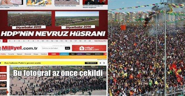 AKP medyasının Diyarbakır Newrozu'nda 'alan boş' yalanı!