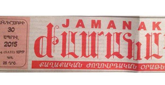 Devletin arşivinde Ermeni gazetesi Jamanak yok