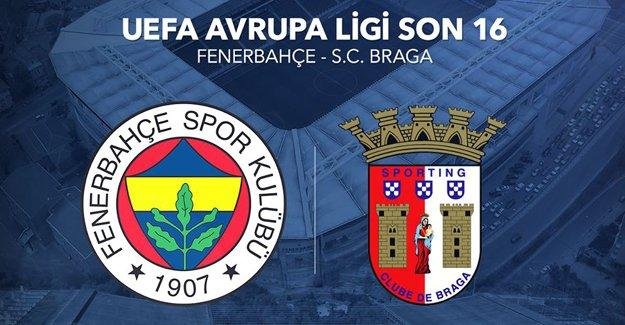 Fenerbahçe-Braga maçı saat kaçta, hangi kanalda?