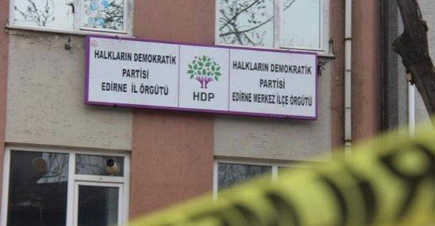 HDP Edirne il binasına silahlı saldırı