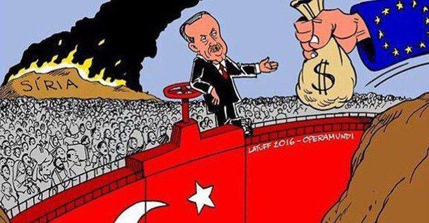 Latuff'tan Erdoğan ve AB karikatürü
