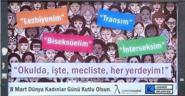 68 örgüt: Lezbiyen, Biseksüel, Trans, İnterseks kadınlar vardır