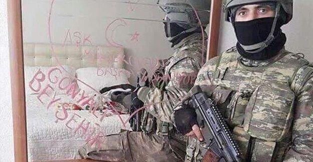 Özel harekatçıların skandal fotoğraflarına bir yenisi Yüksekova'da eklendi