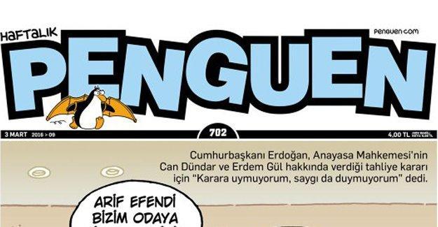 Penguen, Erdoğan'ın AYM sözlerini kapağa taşıdı