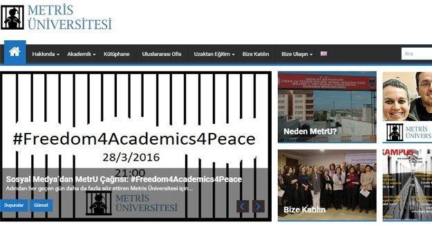 Tutuklanan akademisyenlere destek: 'Metris Üniversitesi' açıldı
