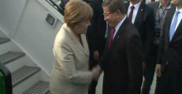 Almanya Başbakanı Merkel Antep'e geldi