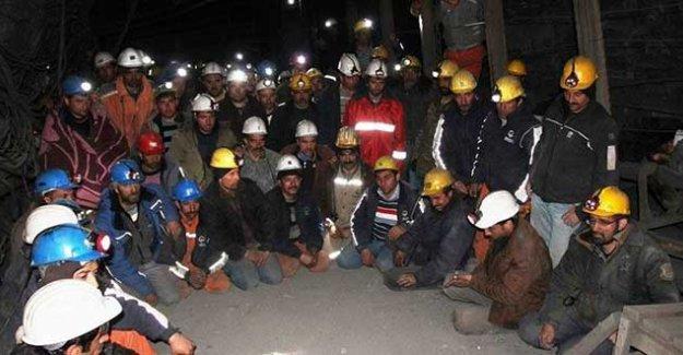 Amasya'da maden işçileri, yerin 1200 metre altında açlık grevi eylemine başladı
