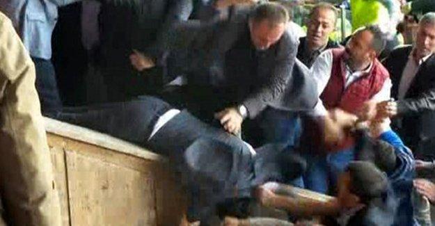 Amedspor yöneticilerine yönelik saldırı anı