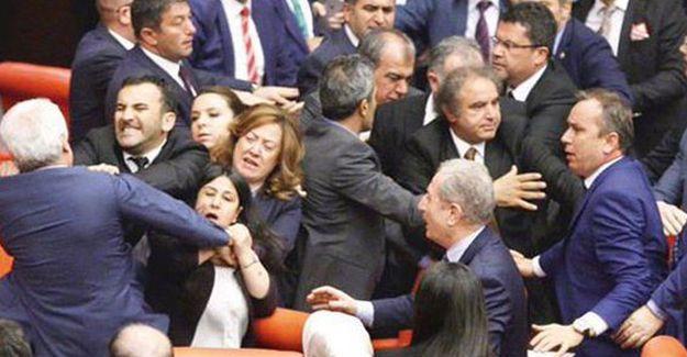 Meclis'te HDP'li vekillere saldırı