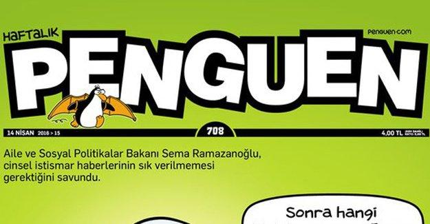 Penguen'in kapağında Aile Bakanı Sema Ramazanoğlu