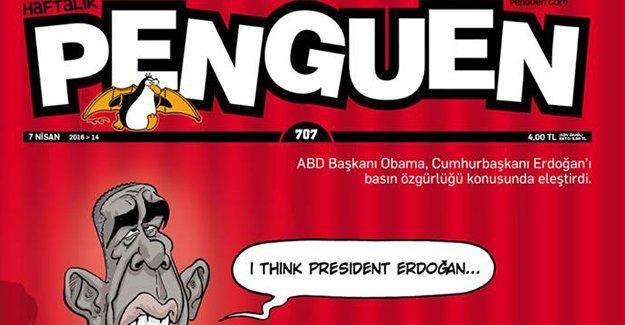 Penguen'den Erdoğan ve Obama kapağı