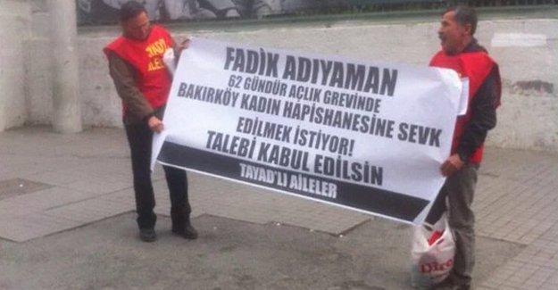 Taksim'de hasta mahpus için eylem yapan 2 kişi gözaltına alındı