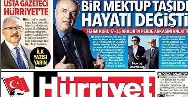 """Usta gazeteci"" Hürriyet'e geçti"