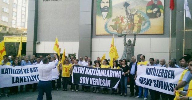 Hama'daki Alevi katliamı İstanbul'da protesto edildi