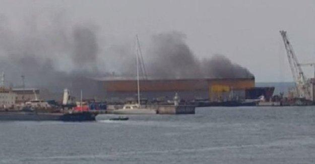 Tuzla'daki bir hangarda patlama