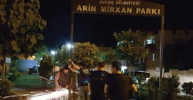 Arin Mirxan Parkı'na geceyarısı operasyonu