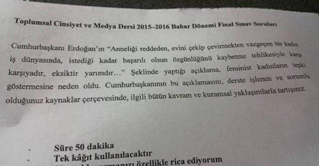 """Erdoğan'ın """"Anne olmayan kadın yarımdır"""" sözleri final sorusu oldu"""
