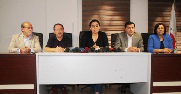 HDP, DBP, DTK ve HDK'den ortak açıklama: Demokrasi cephesine ihtiyaç var