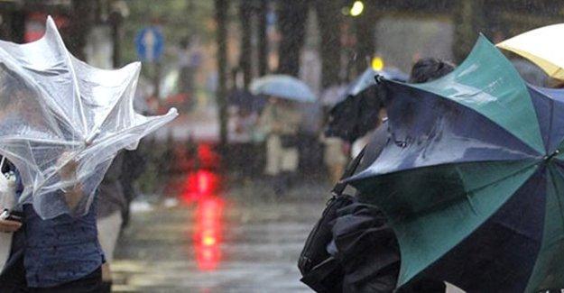 Meteoroloji'den sağanak ve fırtına uyarısı