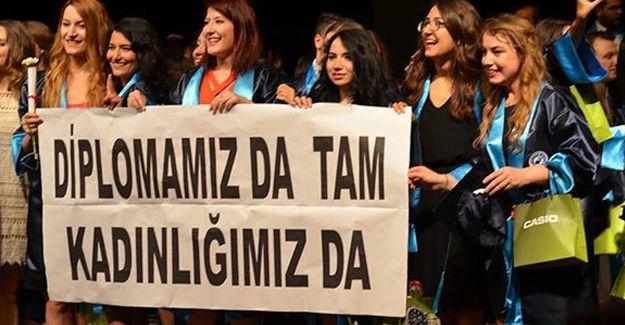 Öğrencilerden Erdoğan'a: Diplomamız da tam, kadınlığımız da