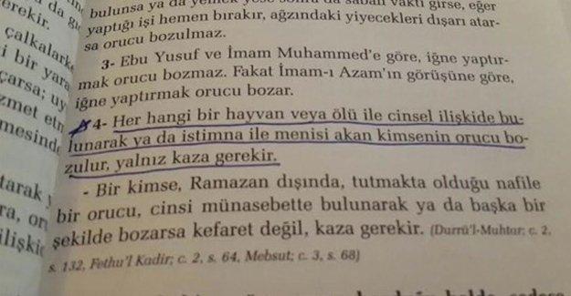 Öğrencilere dağıtılan Ramazan Risalesi kitabı: Ölülerle cinsel ilişkiye girerseniz kazasını tutun