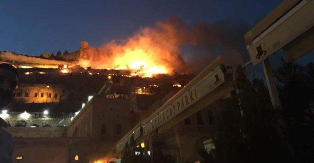 Tarihi Mardin Kalesi'nde ikinci kez yangın çıktı