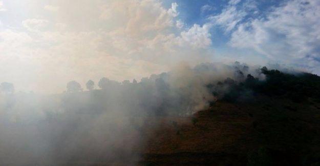 Dersim Düzgün Baba Dağı'nda yangın