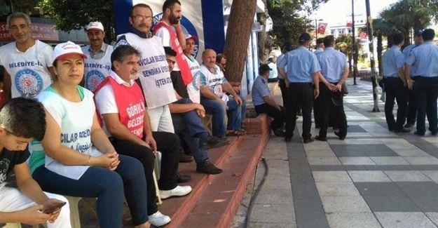 Direnişteki Avcılar Belediyesi işçilerine OHAL engeli!