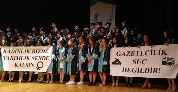 Ege Üniversitesi'nden pankart açan öğrencilere soruşturma