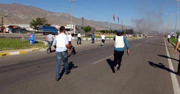 Erzincan'da polise saldırı