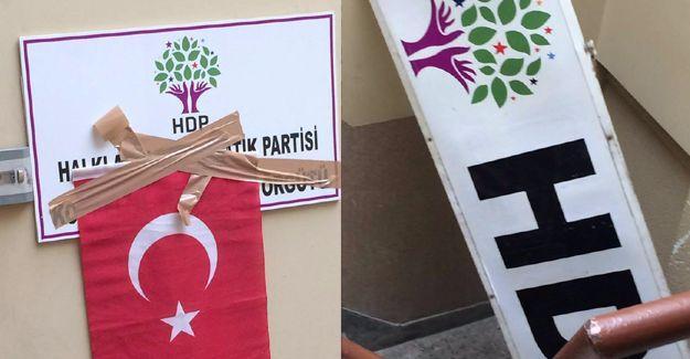 HDP Kocaeli İl Örgütü binasına ırkçı saldırı