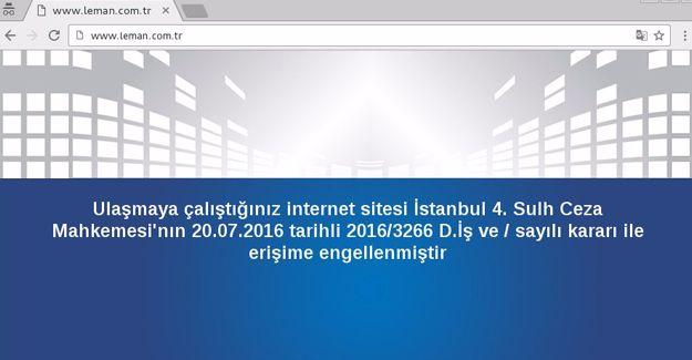 LeMan'ın sitesine erişim engeli
