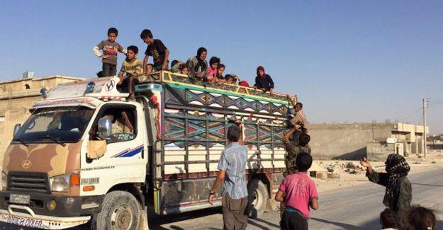 Minbic'de bin civarında sivil kurtarıldı