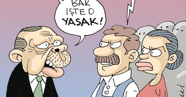 Sefer Selvi çizdi: Taksim'e çıkabilenler, çıkamayanlar!
