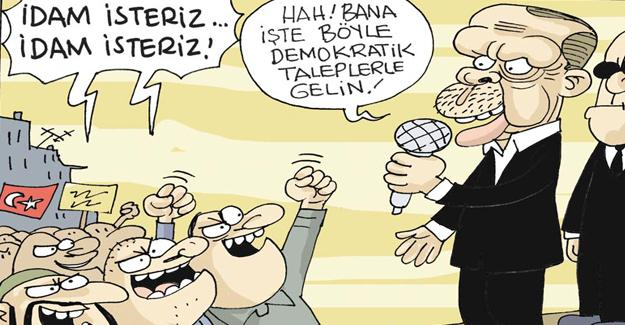"""Sefer Selvi, Erdoğan'ın """"idam"""" açıklamasını çizdi"""
