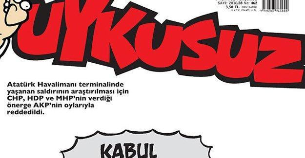 Uykusuz 'terör saldırısı'nın araştırılmasını reddeden AKP'yi çizdi