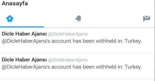 DİHA, ANF ve Özgür Gündem Twitter hesabına Türkiye'de engel