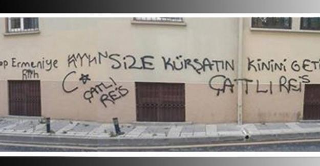 Ermeni lisesinin duvarlarına ırkçı ve tehdit içerikli yazılama