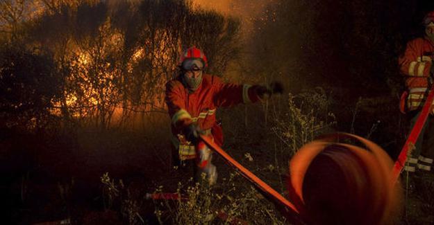Fransa'da yangın: Binlerce hektar alan kül oldu