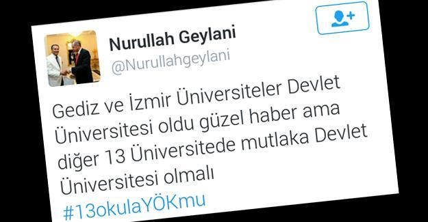 """Gediz ve İzmir Üniversiteleri """"Devlet Üniversitesi"""" mi oluyor?"""