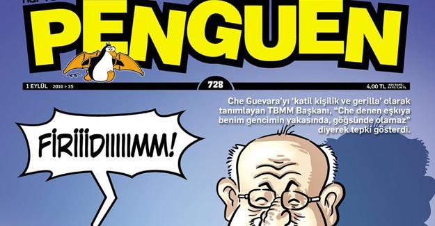 Meclis Başkanı Penguen'in kapağında: Senin de sıran gelecek Vilyım Valıs eşkiyası
