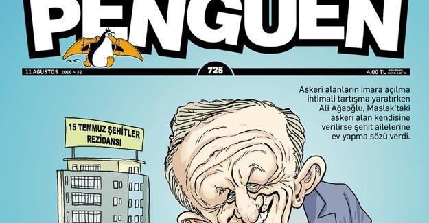 Penguen Ali Ağaoğlu'nun 'darbe'den proje çıkarmasını çizdi