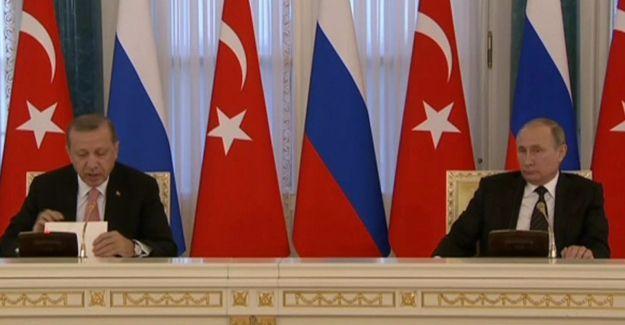 Putin ve Erdoğan'dan görüşmenin ardından ortak açıklama