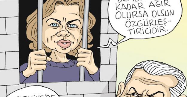 Sefer Selvi Aslı Erdoğan'ı çizdi