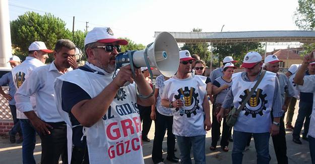 Tariş Üzüm İşletmesi çalışanları greve başladı