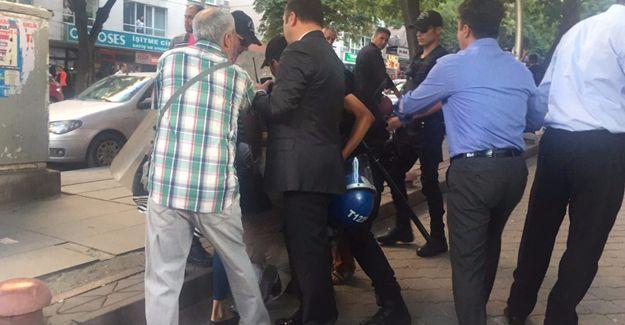 Ankara'da HDP'lilere polis saldırısı