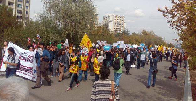 Ankara'da YÖK protestosu: Mücadelemizi sürdüreceğiz
