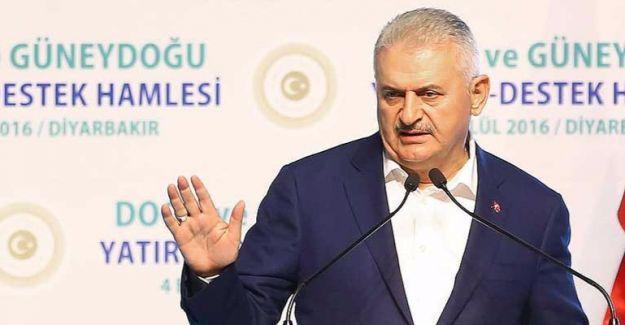 Başbakan Yıldırım Diyarbakır'da da 'Çözüm mözüm yok' dedi