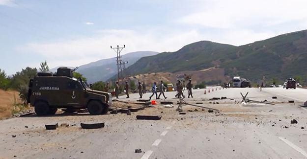 Erzincan- Erzurum yolunda patlama