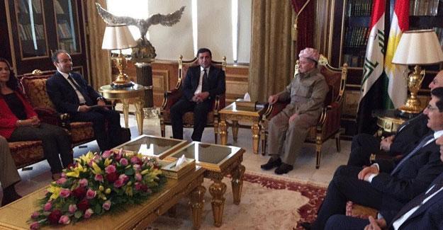 HDP heyeti Mesut Barzani ile yeniden bir araya geldi